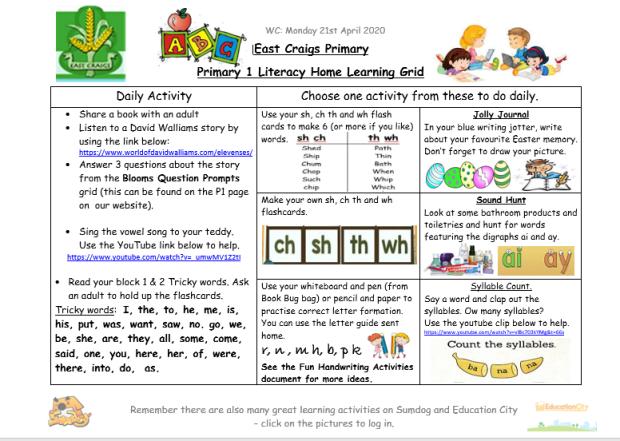 Literacy grid april 21