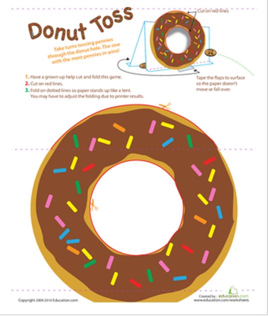 Donut toss