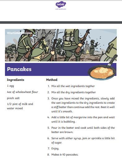 war recipe