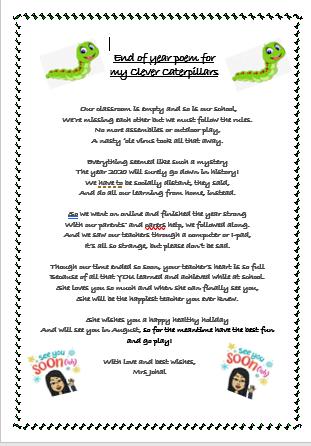 Caterpillar poem