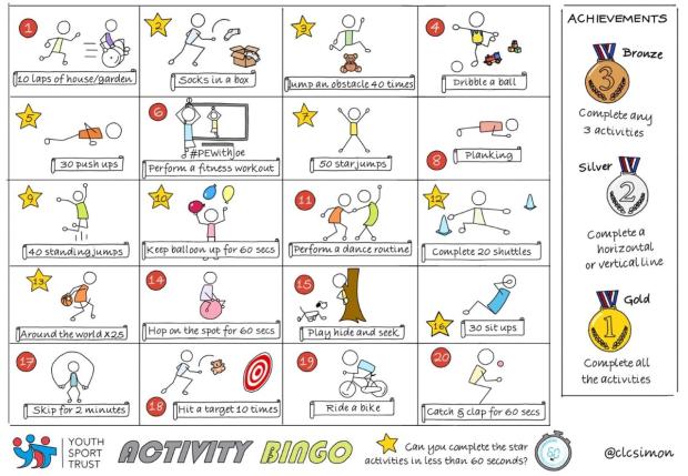 PE bingo image