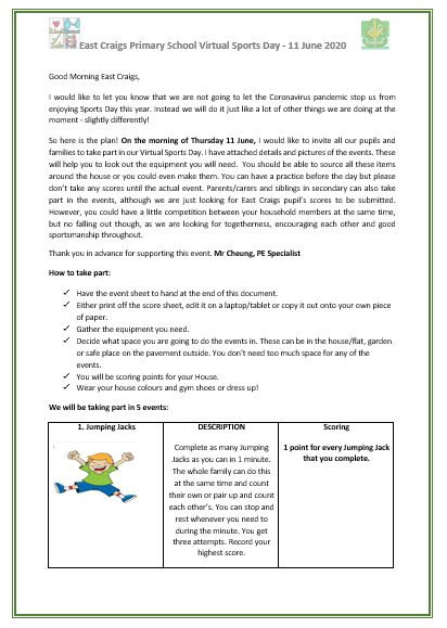sports day letter page 1